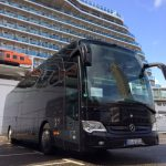 Unser Konferenzbus vor der Magic of the Seas in Rotterdam